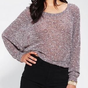 URBAN OUTFITTERS SPARKLE & FADE crop sweater